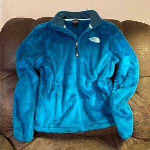 North Face Osito fuzzy jacket.